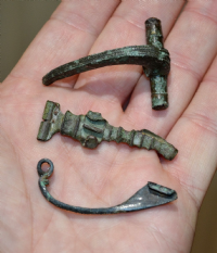A very cheap group of 3 assorted Roman bronze Fibula Brooches from North Yorkshire (Group 5) SOLD